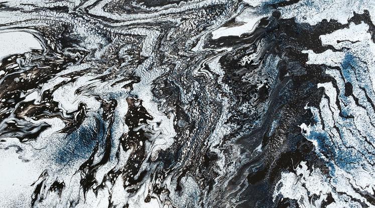 Silvère Jarrosson,Crypique 7, acrylique sur toile, 2015, 100x73 cm