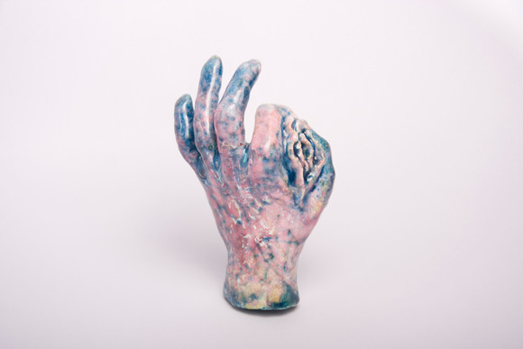 Ding Jiming, Quel-heureux, 2015, Céramique, 8 x 14 x 20 cm