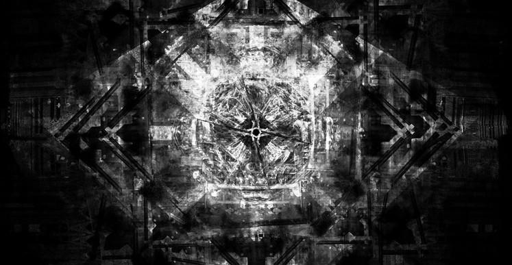 Romuald Martin, Manta (série Dark Matter), 2017, composition photographique, 100 x 100 cm
