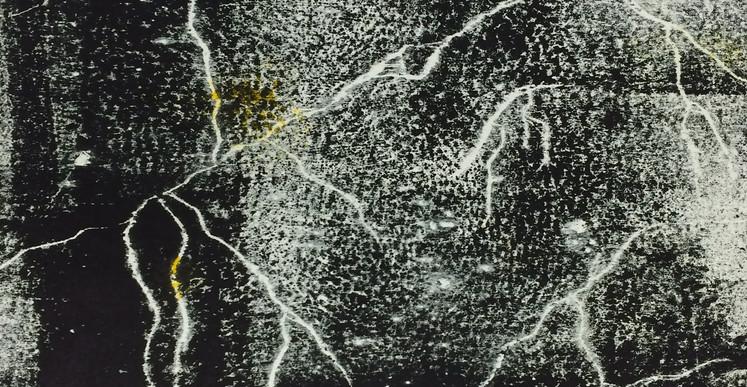 Tony Jouanneau, AstroCran n°4 (série Constellations), 2015, gravure sur bois, 22 x 22 cm