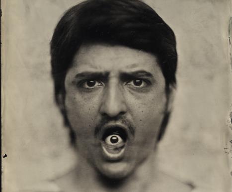 Orlando Pereira dos Santos, Alex #6, 2017, Clear Glass Ambrotype, 18 x 24 cm
