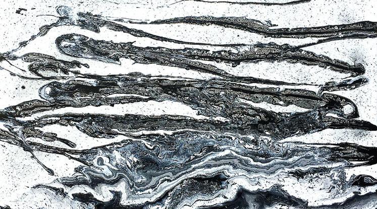 Silvère Jarrosson,Crypique 8, acrylique sur toile, 2015, 160x100 cm