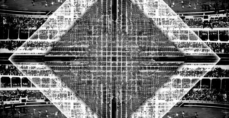 Romuald Martin, La croix (série Dark Matter), 2017, composition photographique, 40 x 40 cm