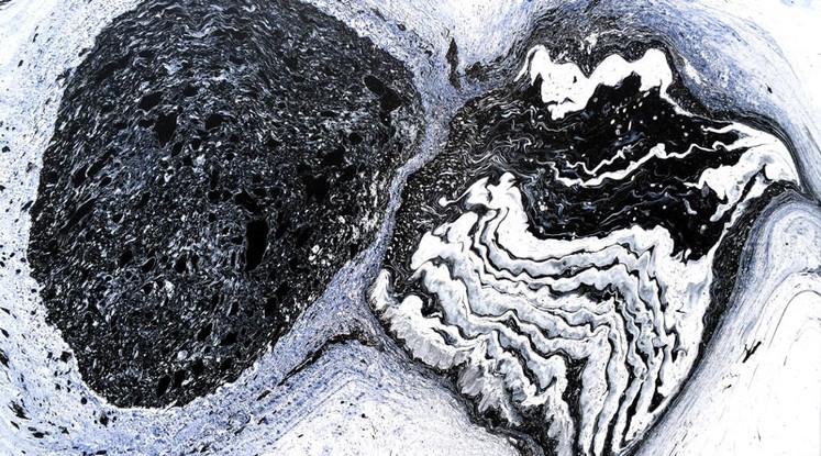 Silvère Jarrosson, Cryptique 19, acrylique, pigments et vernis sur toile, 2015, 116x81 cm