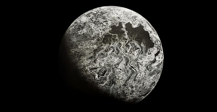 Maxence Doré, Lune 2.0 (2018), Peinture à L'huile - Aerosol, 116cm x 197cm