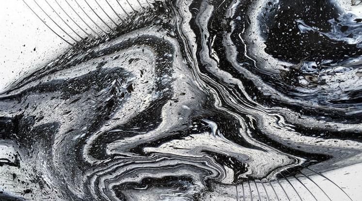 Silvère Jarrosson, Crypique 14, acrylique sur toile, 2015, 130x100 cm