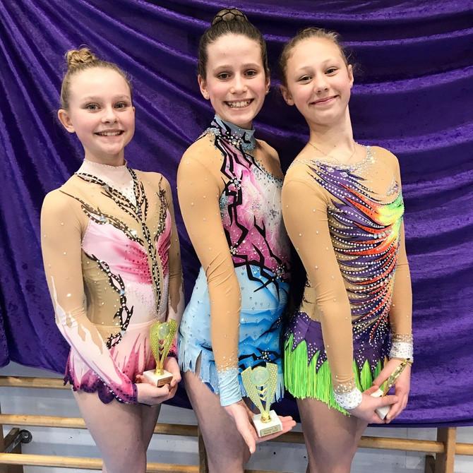 Gymnaster fra Kristiansands Turnforening deltok på sin første norgescup i rytmisk gymnastikk