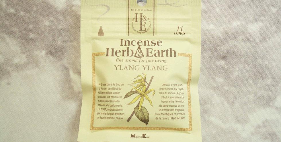 INCIENSO HERB&EARTH 11 CONOS YLANG YLANG