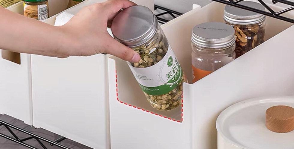 Organizador apilable encastrable con etiqueta