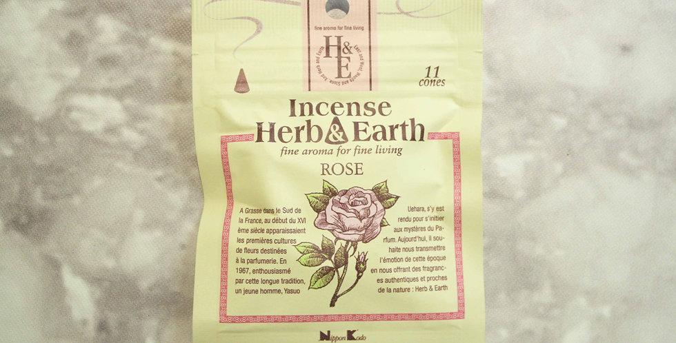 INCIENSO HERB&EARTH 11 CONOS ROSE