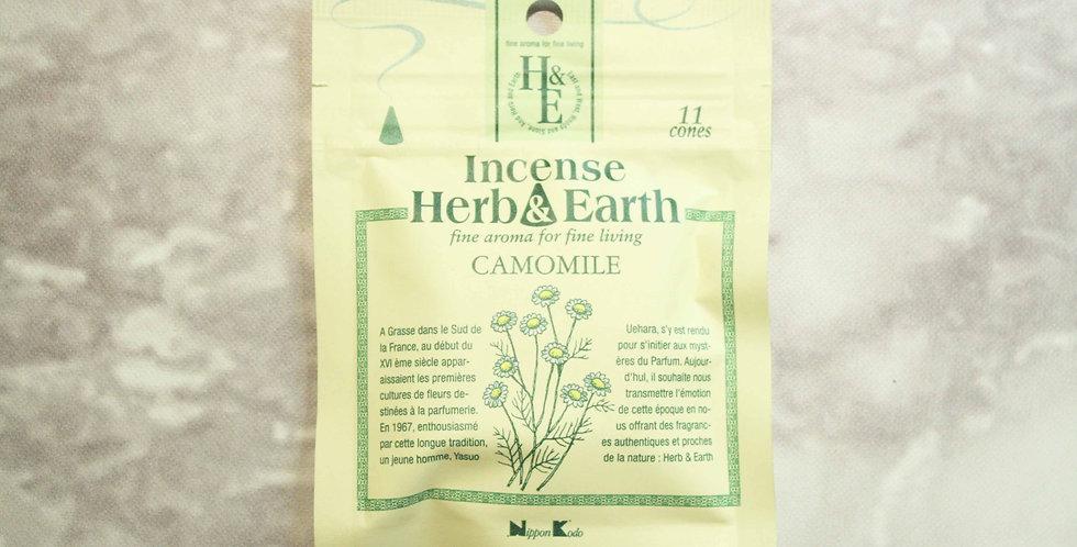 INCIENSO HERB&EARTH 11 CONOS CAMOMILE