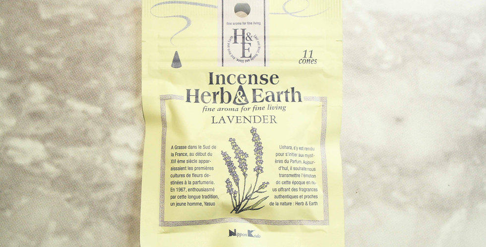 INCIENSO HERB&EARTH 11 CONOS LAVANDA
