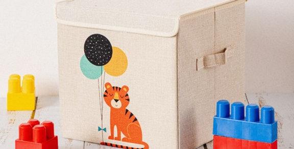 Caja kids plegable forrada en tela