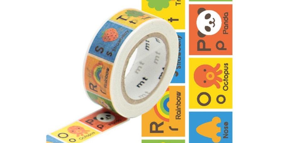 Washi tape alphabet N-Z