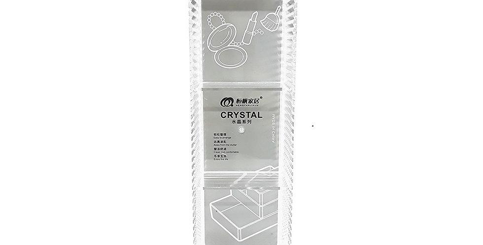 Organizador Acrílico Diamante- Cristal Larga Con Divisiones