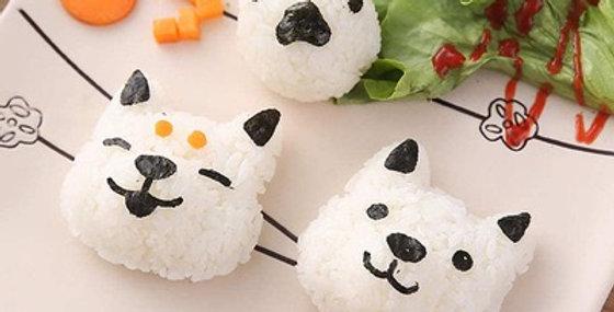 Molde de onigiri (rice balls) modelo perrito