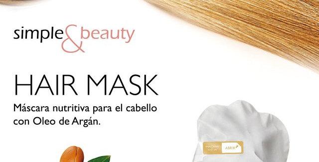 Simple & Beauty Máscara Nutritiva Para el Cabello