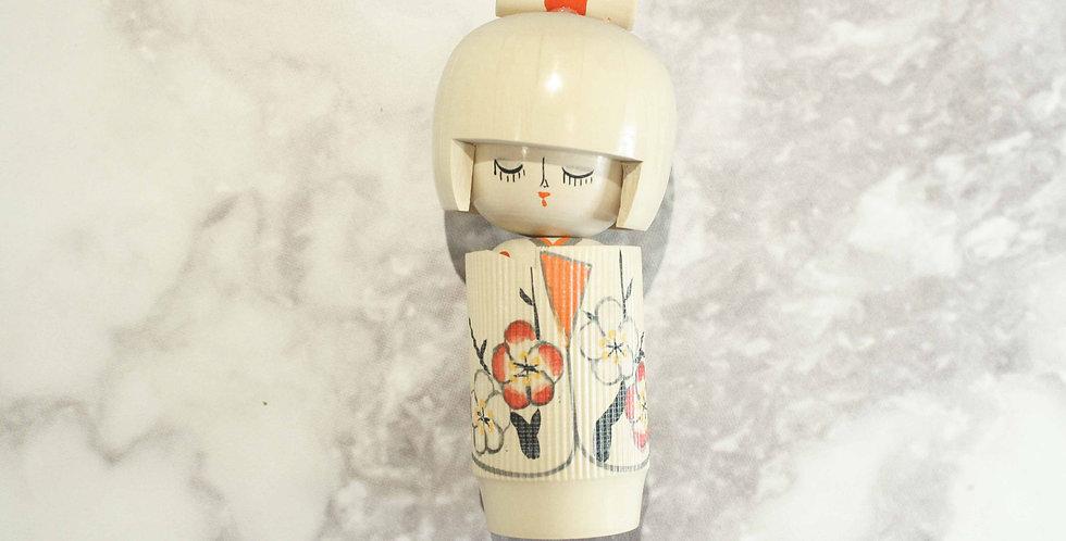Muñeca Kokeshi de Madera - Fumiko-