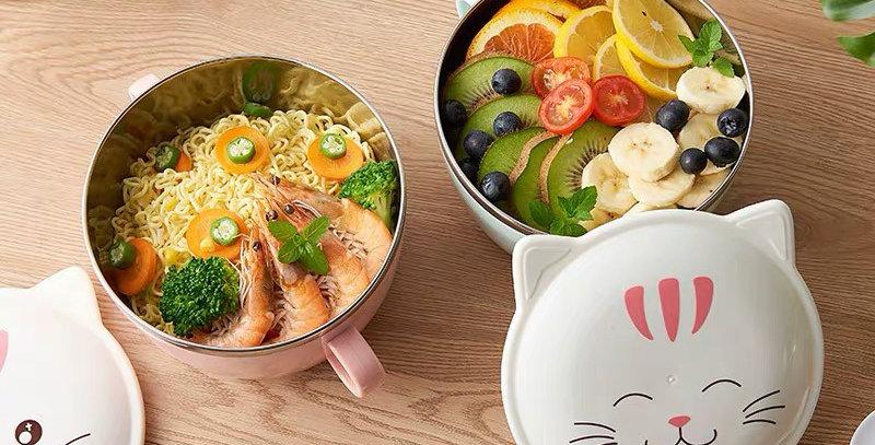 BOWL Gatito con Tapa sopa / ensaladas