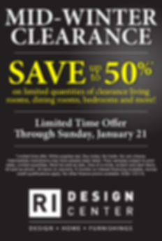 Rhode Island Design Center Weekly Ad