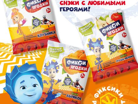 Новые снэки с «Фиксиками» от «ПЕТРОДИЕТ»