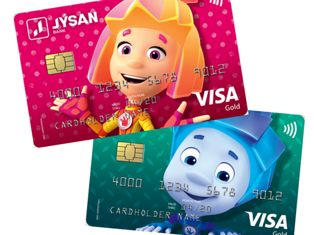 Детские банковские карты VISA  с «Фиксиками» запустили в Казахстане