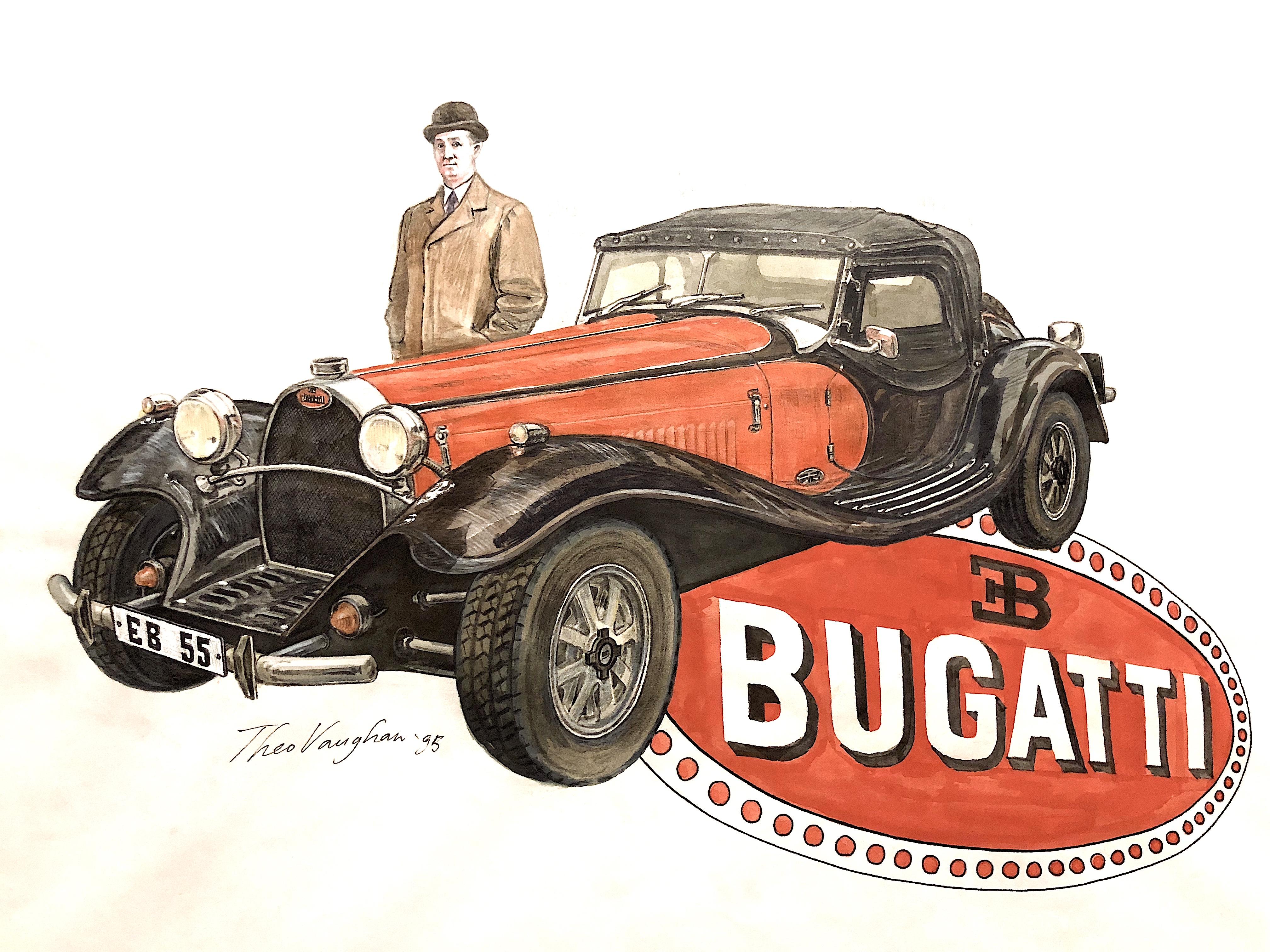 Type 55 Bugatti with Ettore