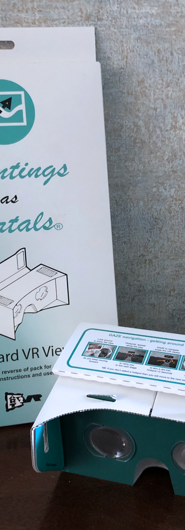 Flat-pack viewer is easy to fold
