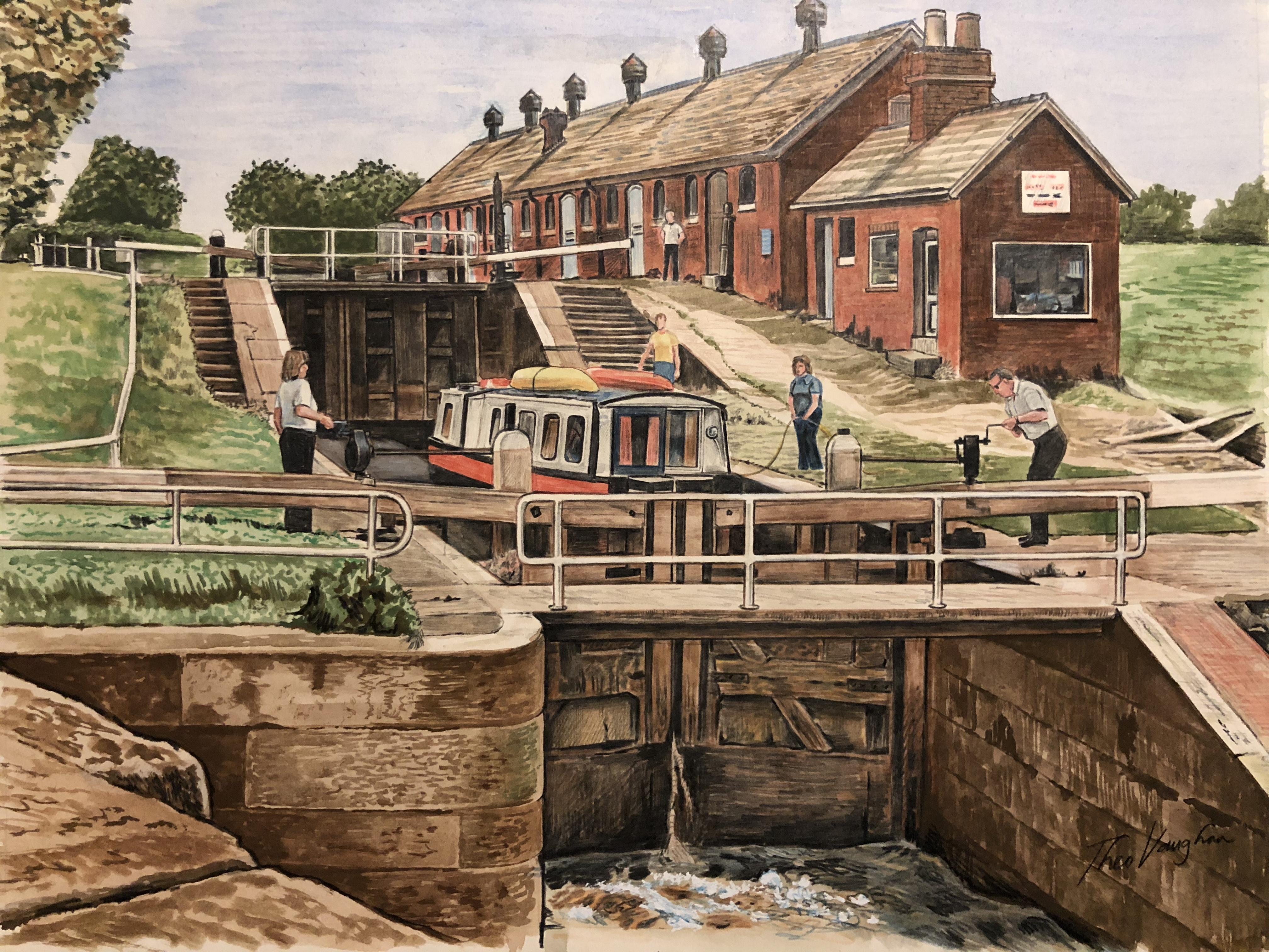 Bunbury Staircase Locks, Shropshire