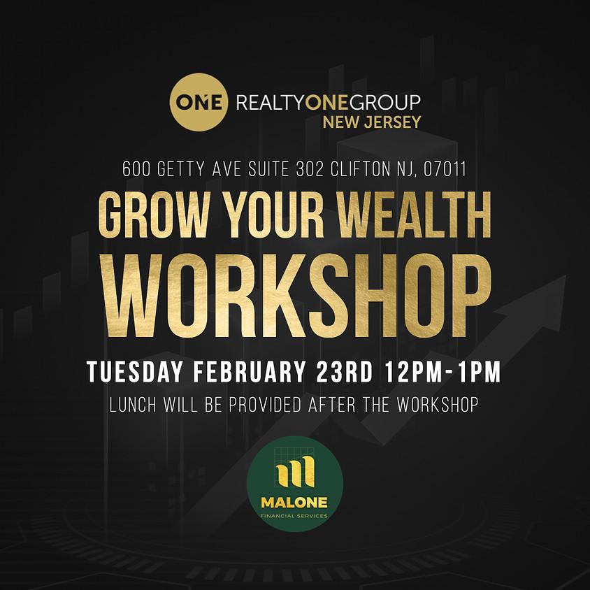 GROW YOUR WEALTH WORKSHOP