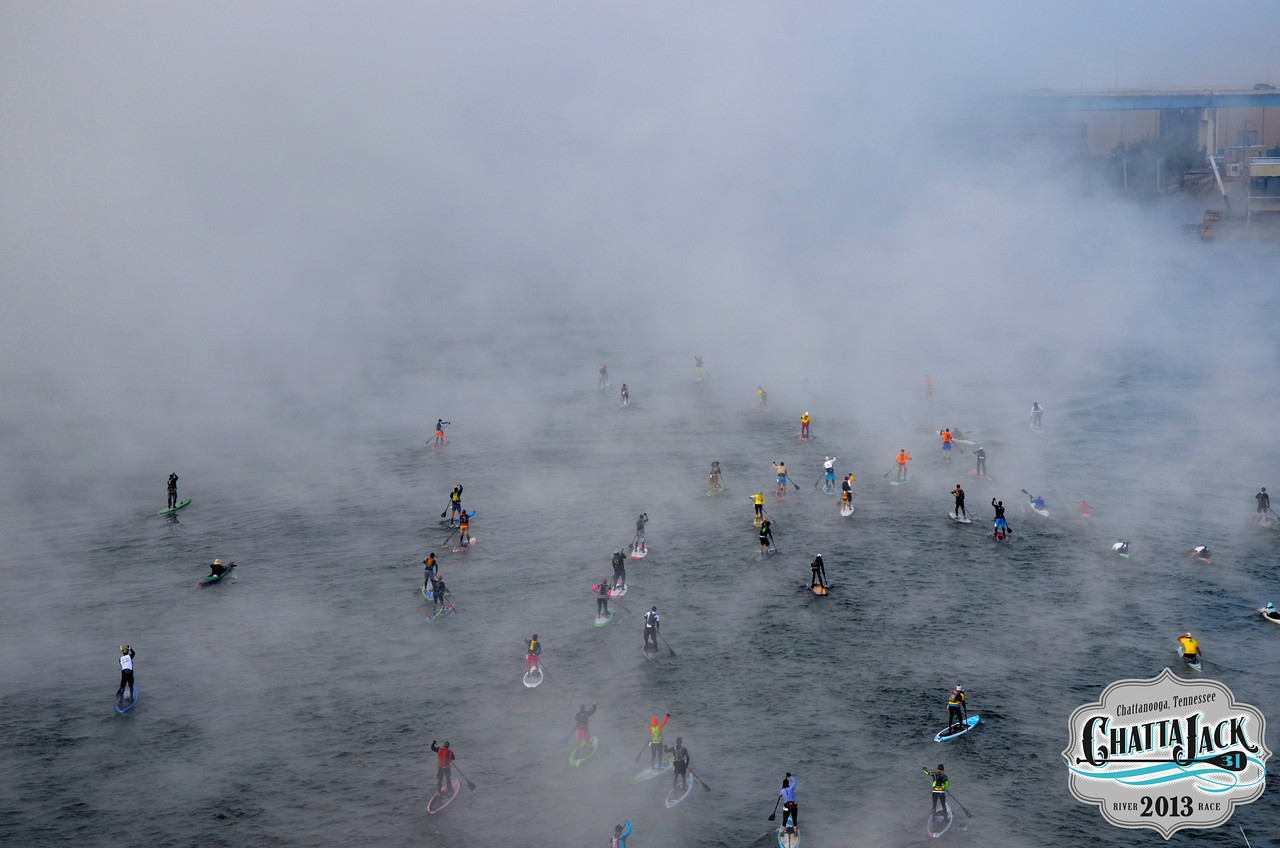 Thick fog delayed the start