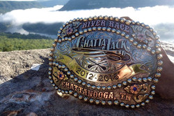 Chattajack 5 year belt buckle trophy