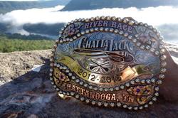 Chattajack 5 year belt buckle trophy