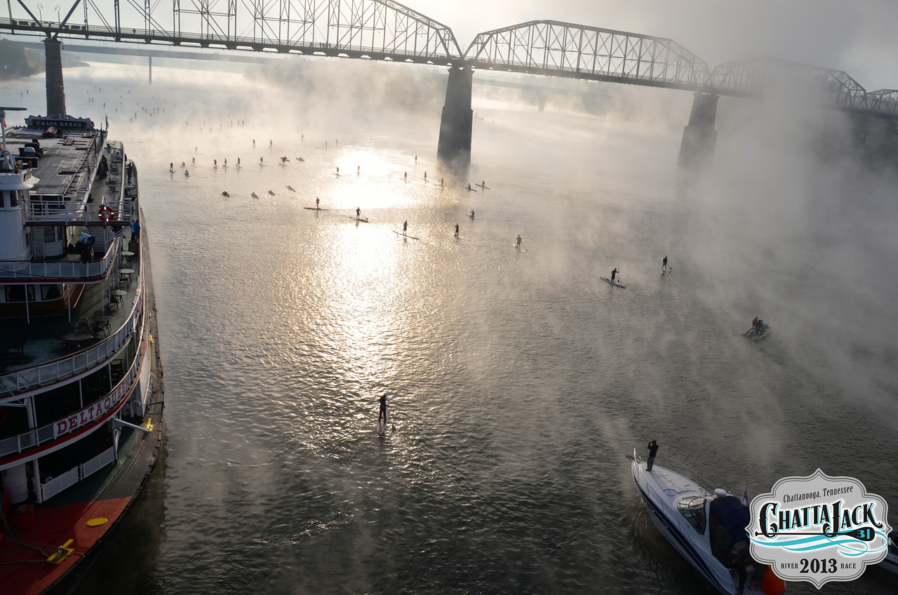 Fog over the water at Chattajack
