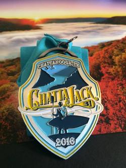 2016 Chattajack finisher's medal