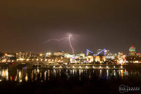 Lightening strike over downtown | Chattanooga, TN
