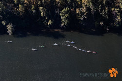 Draft train from above at Chattajack
