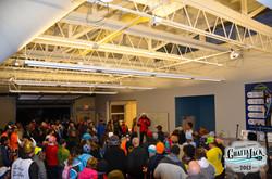 Indoor pre race meeting