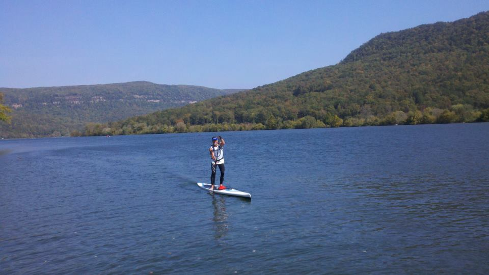 paddler on the course