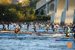 Paddling hard at 2016 race start