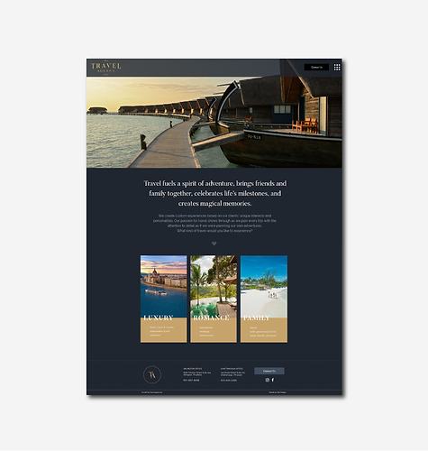 travel agency custom website design