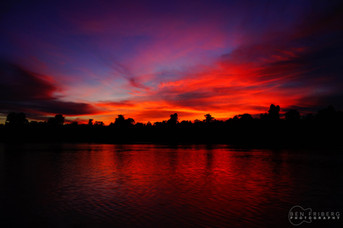 Sunset on the Sepik River, PNG