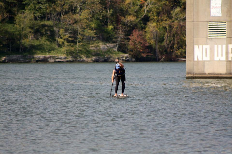 Coming around Hales Bar dam