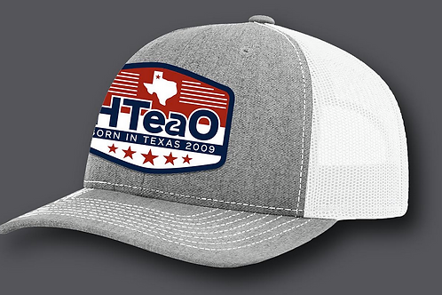 HTeaO Grey & White Patch Hat