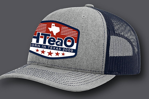 HTeaO Blue & Grey Patch Hat