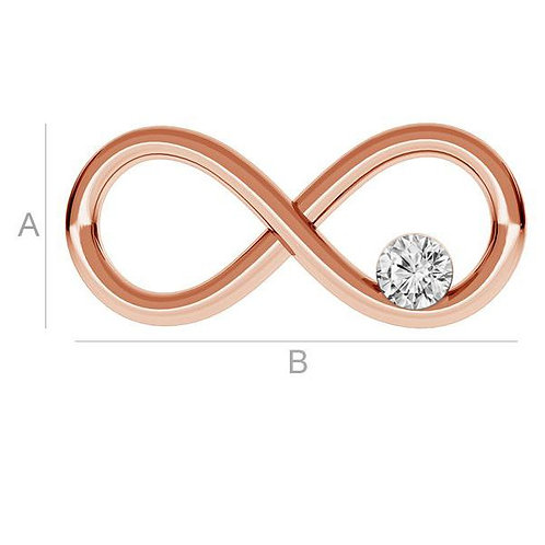 infinity pendant rose gold