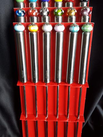 Fondue- und Fleischgabeln mit individuellen Glasperlen und Farben   CH 45.00