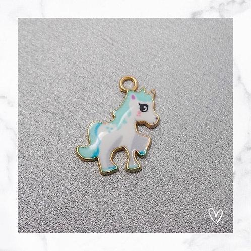 Pferde Anhänger Blau