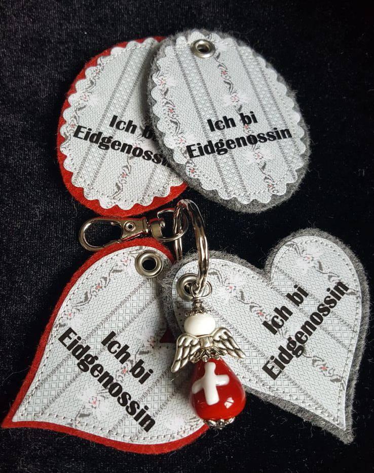 Schutzengeli Eidgenoss/in in Oval oder Herz  CHF 20.00