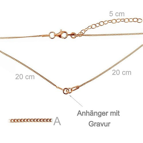 """Your Choice"" necklace rose gold"